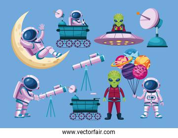 astronauts and aliens