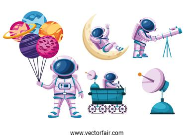 astronauts space icons
