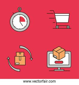 delivery logistic set