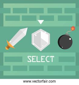 video game select