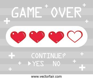 game over lives