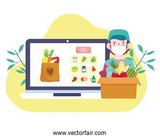 shopping groceries online