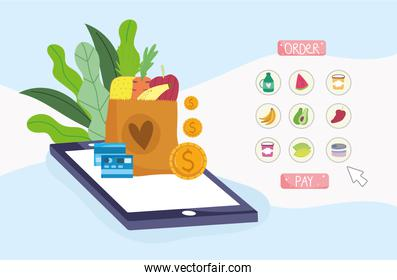 grocery online mobile