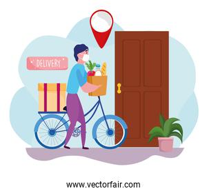 delivers grocery products