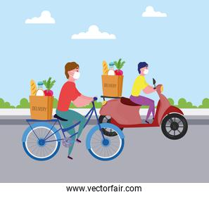 delivery workers transport