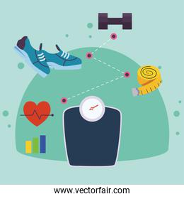 fitness sport scale
