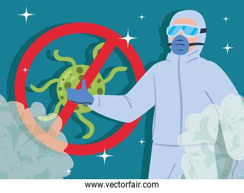 virus protective suit
