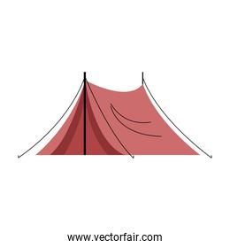 camping tent icon shelter badge