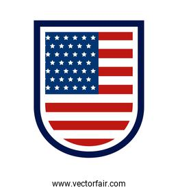 usa flag shield