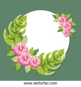 tropical flowers badge