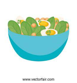 healthy bowl isolated icon