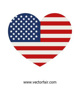 usa heart design