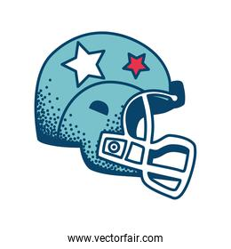 blue american football helmet