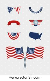 usa decorations set