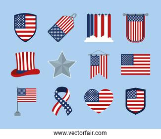 usa flag badges