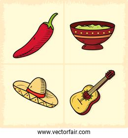 mexican related icons