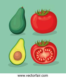 fresh vegetables icons