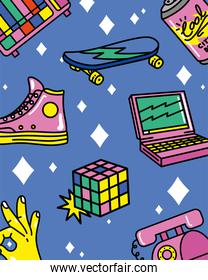 nineties patches pattern