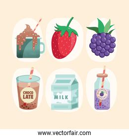 fruits and dairy