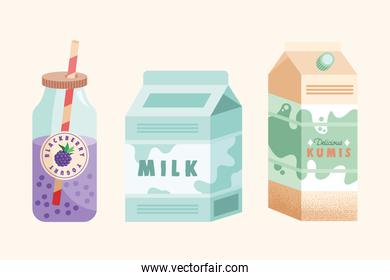 three dairy products