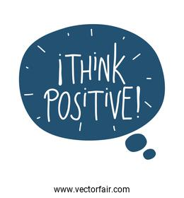 think positive lettering