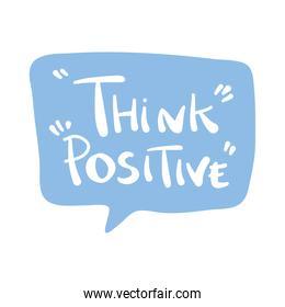 think positive message