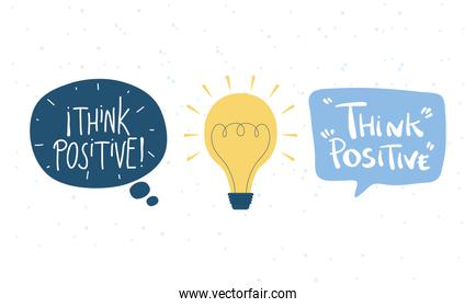 think positive letterings