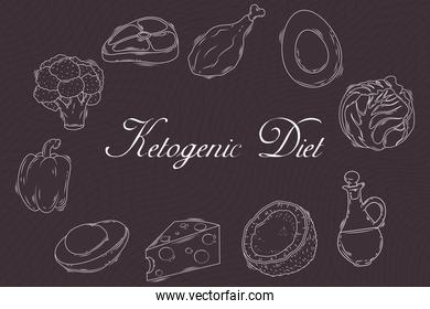 ketogenic diet chalkboard