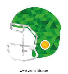 green american football helmet