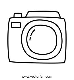 photography camera line style icon