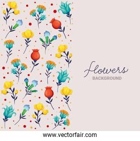 flowers background lettering