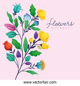 flowers background card