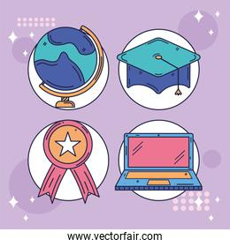four learn icons