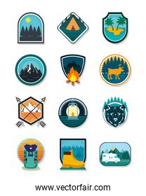 camp patches set