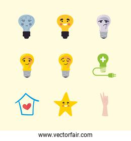 think positive icons