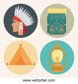 camping four icons