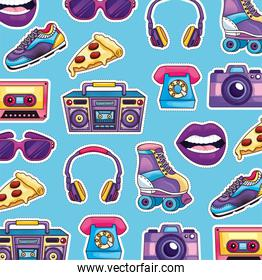 retro patches pattern