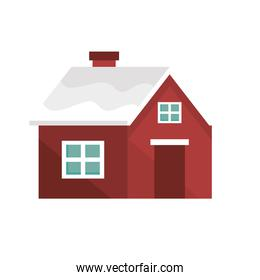 red winter house