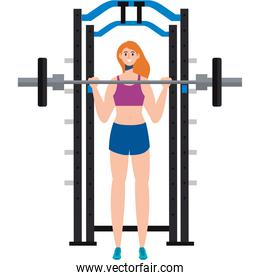 girl weight lifting