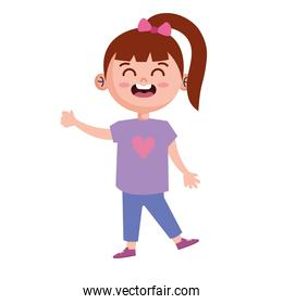 girl laughing character