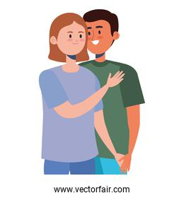 interracial couple characters