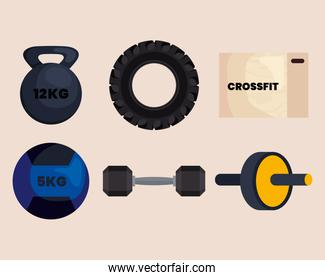 crossfit set icons