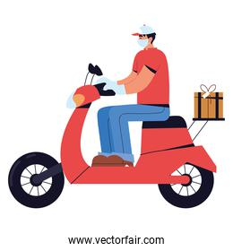 delivery man working