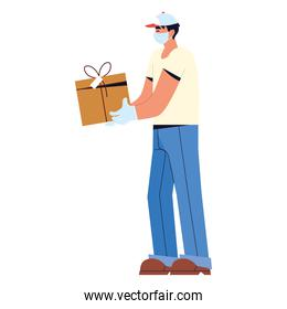 courier with package