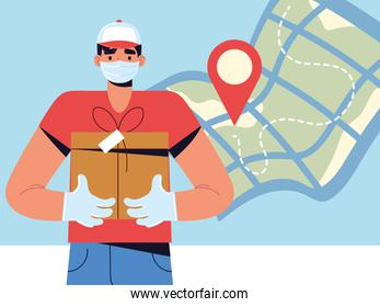 courier man character