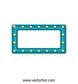 rectangle bulbs frame