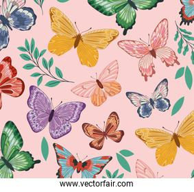butterflies with leaves