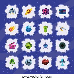 video game stickers