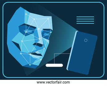 smartphone recognition face