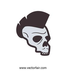 Isolated skull icon